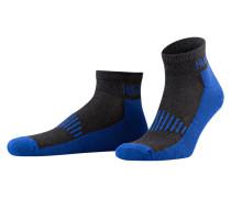 2er-Pack Sneakersocken - dunkelgrau/ blau