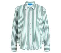 Bluse - grün/ weiss gestreift