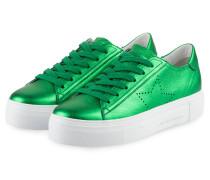 Plateau-Sneaker BIG - grün metallic