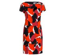 Kleid DAKUJA - rot/ schwarz/ weiss