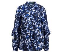 Bluse - navy/ blau/ weiss