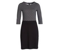 Jerseykleid - schwarz/ ecru
