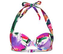 Neckholder-Bikini-Top - pink/ lila