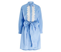 Hemdblusenkleid - hellblau