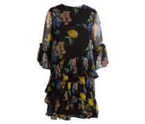 Kleid LOUVRE - schwarz/ gelb/ grün