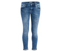 7/8-Jeans LEXY - mid indigo str blau