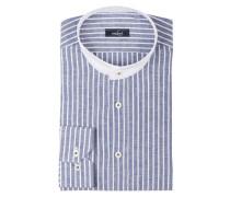 Hemd REM Tailor-Fit mit Stehkragen und Leinenanteil