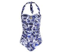Badeanzug SECRET GARDEN - blau/ weiss