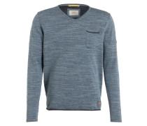 Pullover - blaugrau meliert