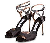 Sandaletten HELEN - schwarz/ silber