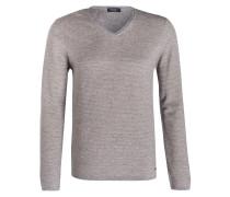 Pullover - blau/ beige