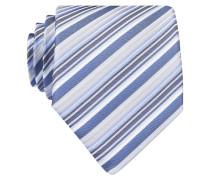 Krawatte - weiss/ blau