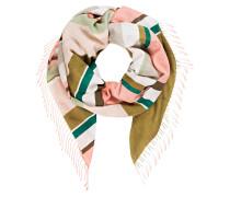Schal - rosa/ khaki/ braun