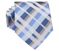 Krawatte - weiss/ hellblau