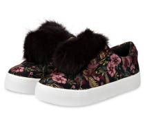 Slip-on-Sneaker LEYA mit Fell-Pompon