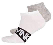 2er-Pack Sneakersocken - weiss