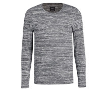 Pullover J-SID-RL - grau/ weiss meliert