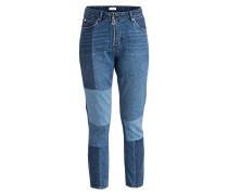 Girlfriend-Jeans - blue vintage denim