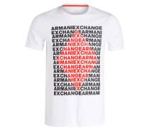 T-Shirt - weiss/ orange/ schwarz
