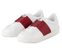Sneaker OPEN - WEISS/ BORDEAUX