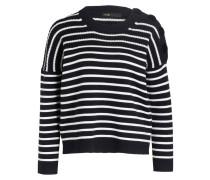 Pullover MARKET - blau/ weiss gestreift