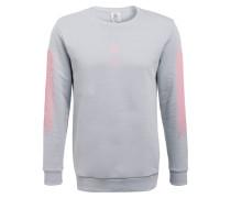 Sweatshirt - hellblau/ rosa