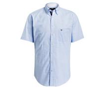 Halbarm-Hemd Casual-Fit - blau