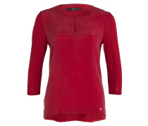 Shirt CATHY im Materialmix - rot