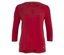Shirt CATHY im Materialmix - rot