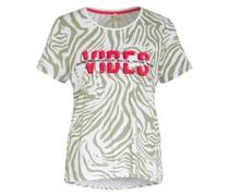 T-Shirt CLUB mit Paillettenbesatz