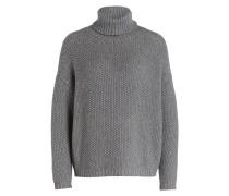 Cashmere-Rollkragenpullover - grau