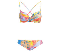 Bügel-Bikini ART - blau/ rot/ gelb