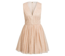 Kleid MONICA GATHERED - beige/ gold