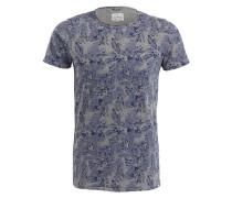 T-Shirt - grau/ lavendel/ dunkelblau