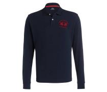 Piqué-Poloshirt Regular-Fit - navy