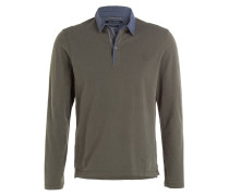 Jersey-Poloshirt Regular-Fit - khaki/ blau