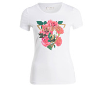 T-Shirt DIAMOND ROSE - weiss