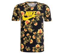 T-Shirt - schwarz/ orange/ gelb