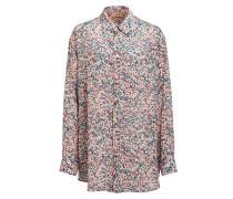 Oversized-Hemdbluse aus Seide