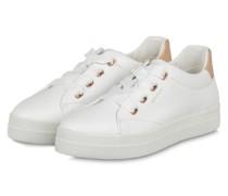 Plateau-Sneaker AVONA - WEISS/ ROSÉGOLD