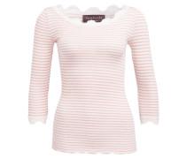 Shirt mit Seidenanteil - creme/ rose