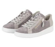 Sneaker mit Schmucksteinbesatz - grau