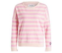 Sweatshirt - pink/ nude gestreift