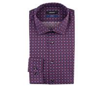 Hemd Tailored-Fit - burgunder/ flieder