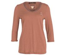 Shirt mit 3/4-Arm - hellbraun