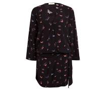 Kleid BANDIT - schwarz/ rosa/ blau