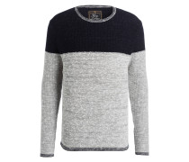 Pullover HANMILTON - grau/ dunkelblau