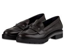 Penny-Loafer mit Nietenbesatz - anthrazit