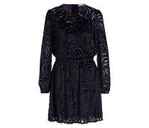 Kleid - schwarz/ violet