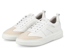 Plateau-Sneaker - WEISS/ CREME